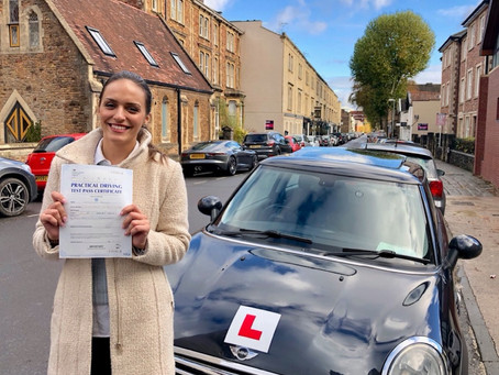 Congratulations Catarina for passing First Time with only 2 minor faults.