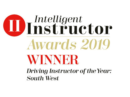 Our Driving Instructor Christian awarded;  Driving Instructor of the Year 2019 South West region.