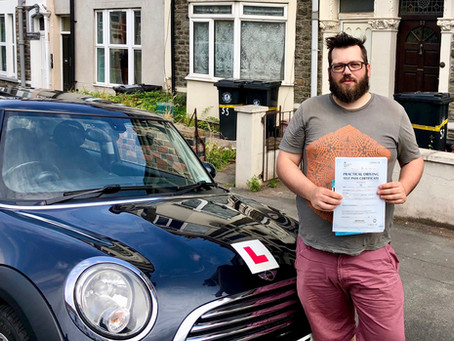 Congratulations Joss on passing your driving test First time with only one minor driving fault.