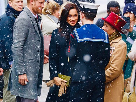 Great to see Prince Harry and Meghan Markle in Bristol despite the cold weather.