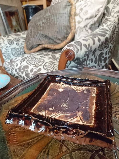 Ceramic/セラミック 中島茶角皿 Nakashima Brown Square Plate