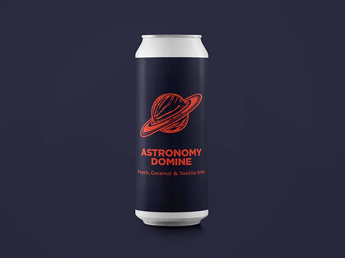 ASTRONOMY DOMINE Peach Coconut and Vanilla DIPA 8%
