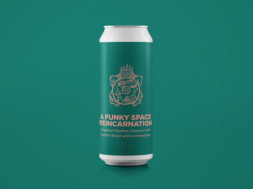 A FUNKY SPACE REINCARNATION Imperial Pandan, Coconut and Vanilla Stout 11%