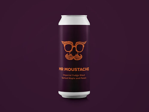 MR MOUSTACHE Imperial Fudge Stout - Salted Maple and Pecan 11%