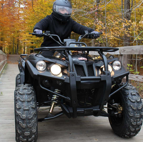 DRR Stealth Silent Electric ATV offers a comfortable and quiet ride