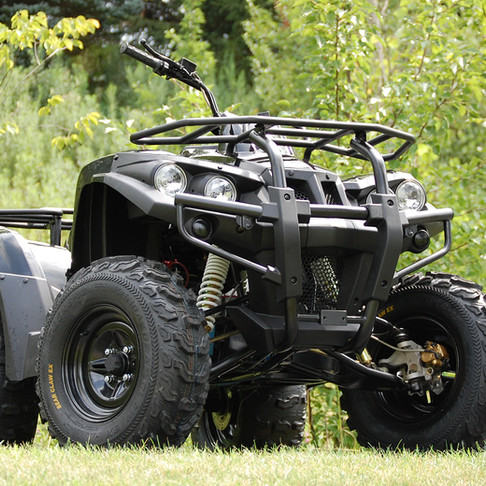 DRR STEALTH ELECTRIC ATV IS SILENT, ENVIRONMENTALLY FRIENDLY, ELECTRIC ALL-TERRAIN VEHICLE