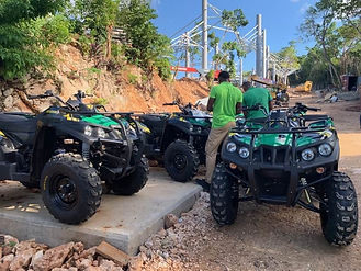 A fleet of DRR USA's electirc ATVs