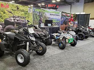 DRR USA EV Lightning at a tradeshow