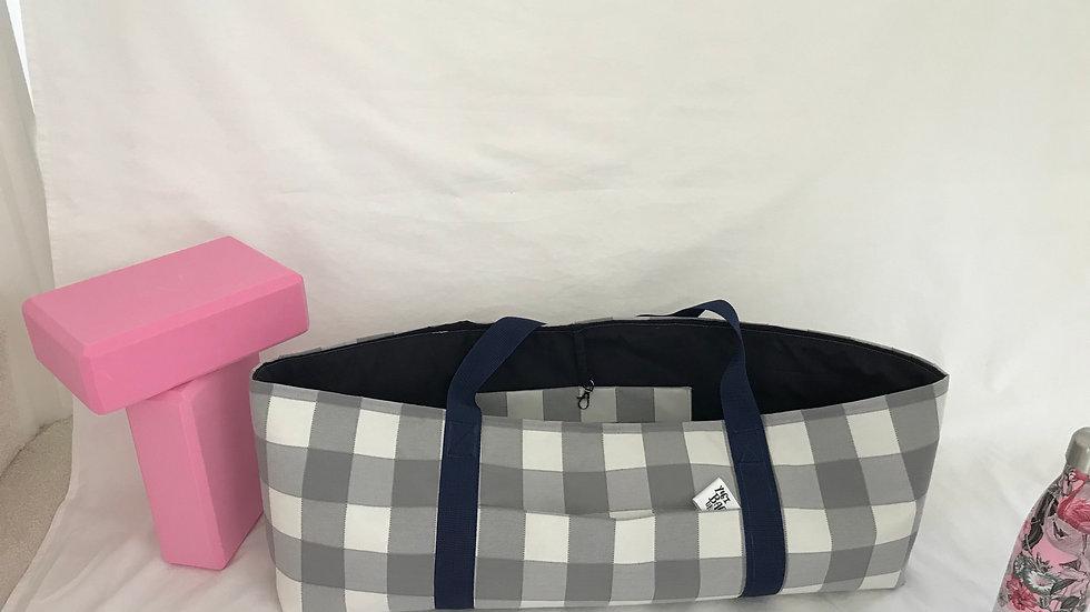Grey check Yoga Kit Bag