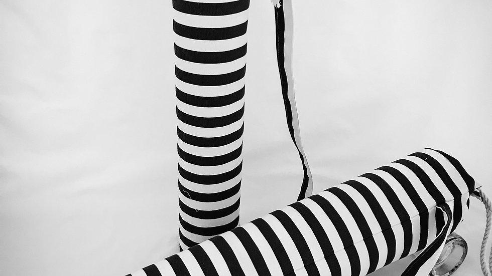 Yoga Bag Black and White Stripes