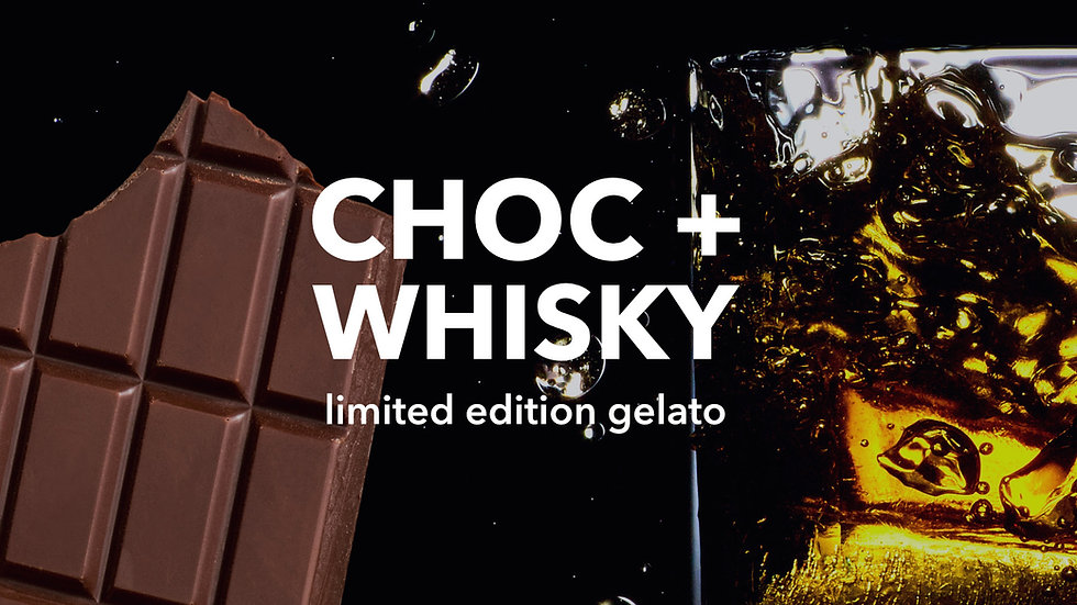 Choc + Whisky Gelato