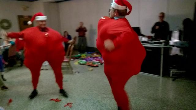 Christmas Party - Santa Suit Balloon Challenge