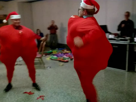 Christmas Party - Santa Suit Balloon Challenge
