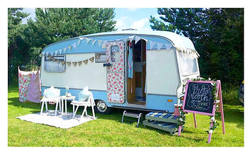 Daisy Vintage Caravan on location