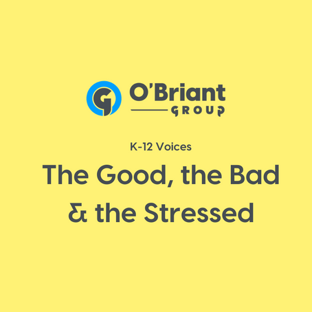 K-12 Voices: The Good, The Bad, and The Stressed