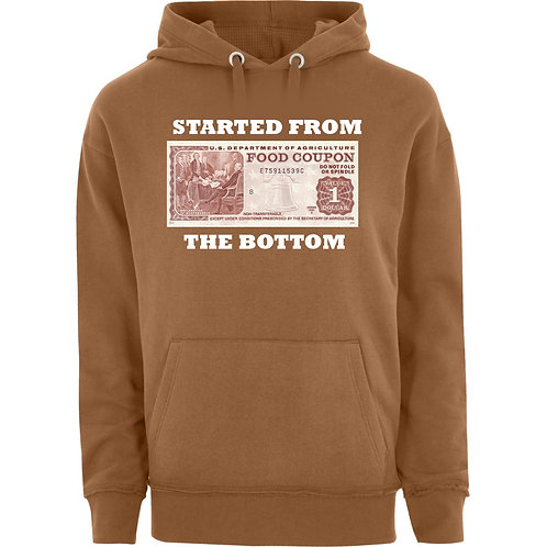 Started from the Bottom Tan Hoodie