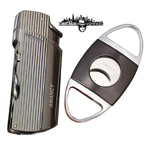 Chicago Smokes Top Grade Cigar Cutter with Jet 2 Torch Set