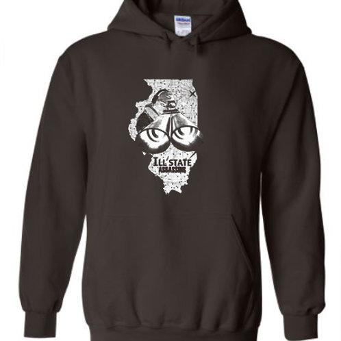 Illstate Assassins Grey Hoodie with White Logo