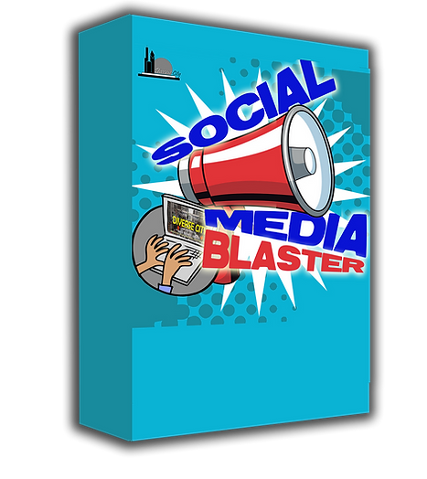 Social Media Blaster Software Box PNG.pn