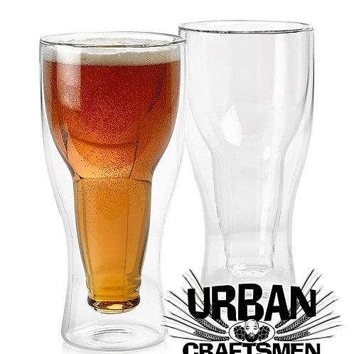 URBANcraftsmen 14oz Double Wall Beer Glass Set (2)