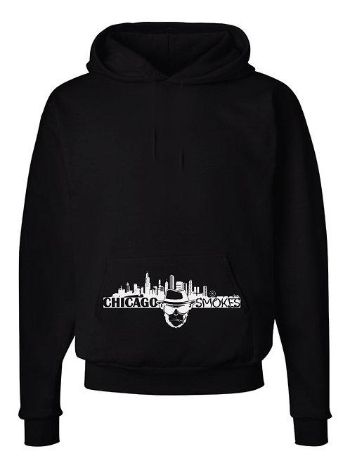 Chicago Smokes Black Hoodie with Pocket Logo