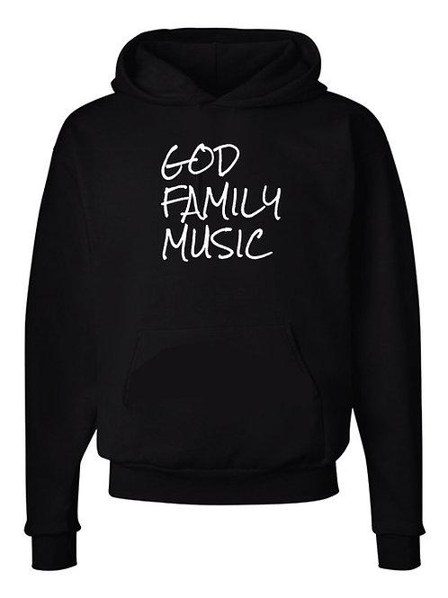GOD FAMILY MUSIC Black Hoodie
