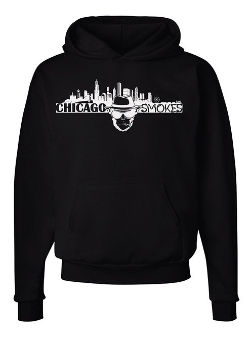 Chicago Smokes Black Hoodie with Chest Logo