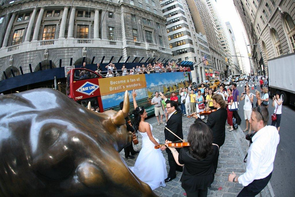 Live Wedding at Wall Street in NYC, NY