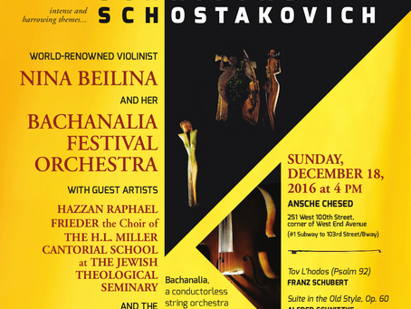BACHANALIA Orchestra Concert in NYC