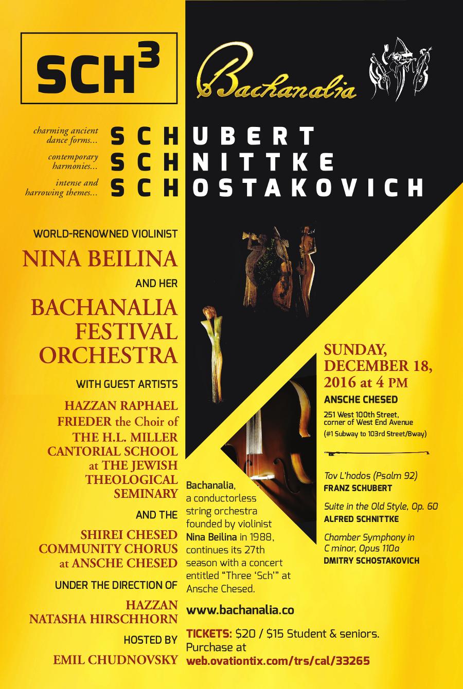 Art Strings director Alexander Abayev is a  concertmaster of Bachanalia