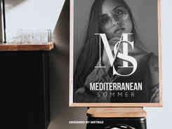 """MS"" Minimalist Monogram Logo Mark Design"