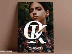 OK Minimalist Monogram Logo Mark Design