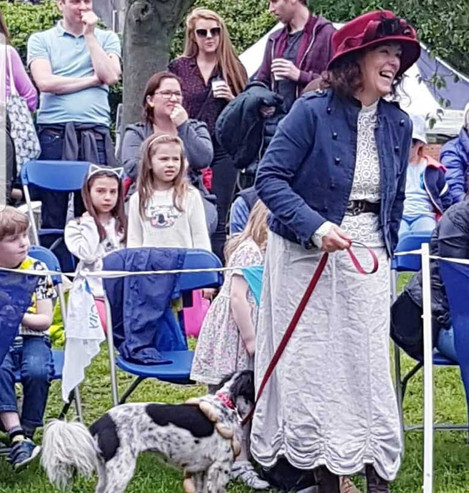 Fair in the Bloomin' Square Dog Show for Bloomsday 2019 - Suzanne Lynch with Polly