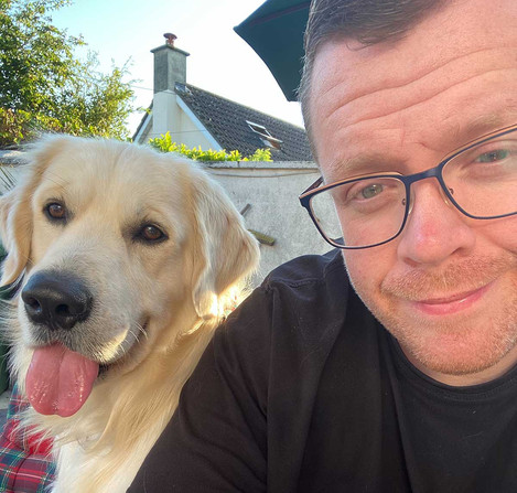 Best Pandemic Pooch Week 11 John Conroy with Sully