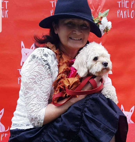 Fair in the Bloomin' Square Dog Show for Bloomsday 2019 - Mary Crosbie with Sandy