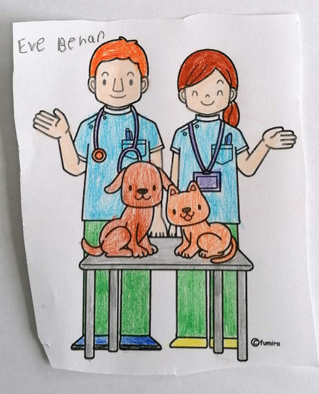 6 - 12 CATEGORY  Eve Behan aged 8 and her picture and story about her dog Suzy