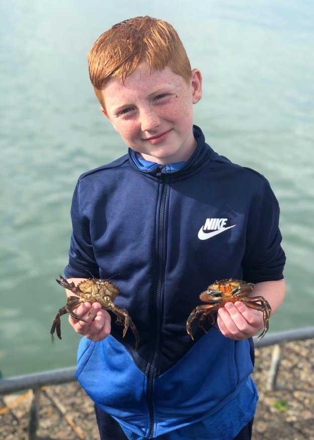 Best Pandemic Pet Week 12 - Luke Kinsella with his sea haul