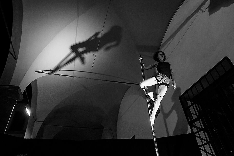 Elisa Zanlari pole dance performer 2