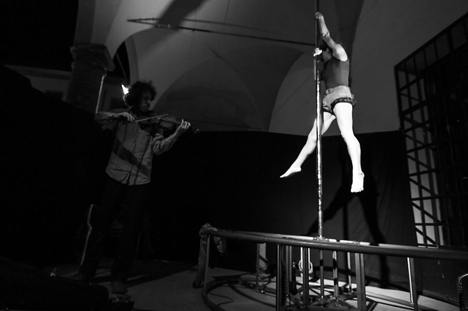 Elisa Zanlari pole dance performer