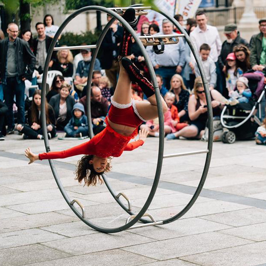 German Wheel acrobat