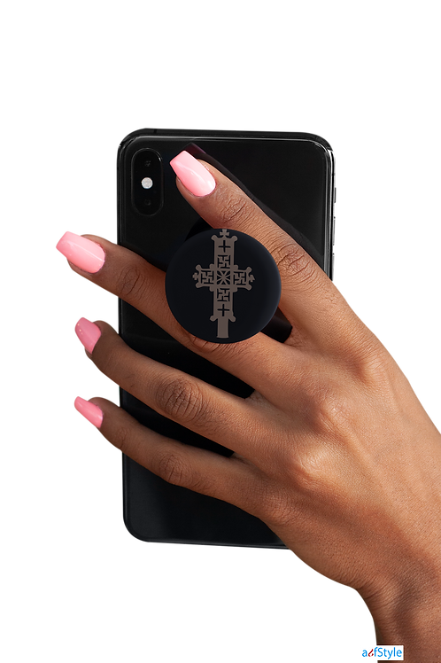 Cross PopSockets grip for any phone.
