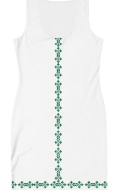 Ethiopian Cross Design Dress, Sublimation Cut & Sew Dress