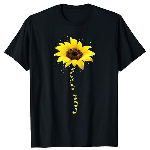 Addis Ababa, Sunflower in Geez Script T-Shirt