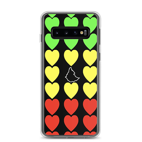 Ethiopian Flag, Heart, Samsung Case