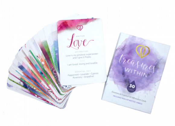 Treasures Within: Emotions & Essential Oil Affirmation Cards