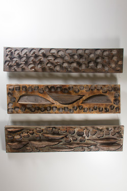 Trees Shelves (2008); Metal Sheets;83x94