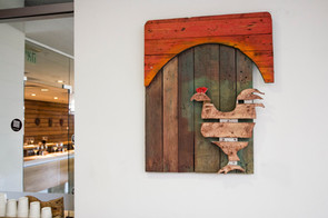 Rooster; wooden pallets; 2015