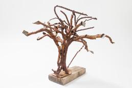 Tree IV (2008); Metal Sheets, Wood; 26x40x27.jpg