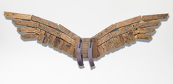 Wings (2013); wood, ready made; 375x60
