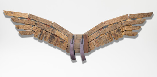 Wings ; wood, ready made; 375x60; 2013